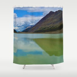 Sunwapta Lake at the Columbia Icefields in Jasper National Park, Canada Shower Curtain