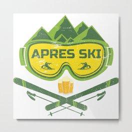 Apres Ski Huts Outfit Metal Print