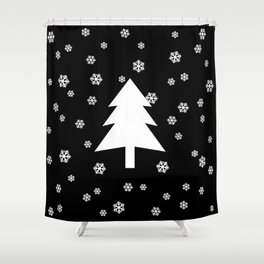 Snowy - black - more colors Shower Curtain