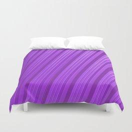 Stripes II - mauve Duvet Cover