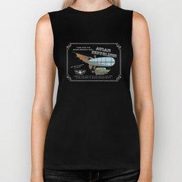 Avian Zeppelin Steampunk Poster Biker Tank