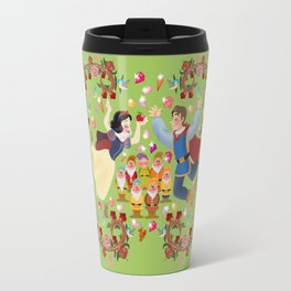 Dwarfs princess wall painting Travel Mug