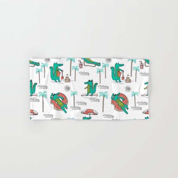 Alligator Vacation Tropical Gator Life Palm Beach Socal Florida Gators Hand Bath Towel