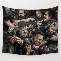 anarchy Wall Tapestries featuring Sons of Anarchy-War by Denis O'Sullivan