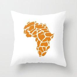 GiraffAfrica Throw Pillow