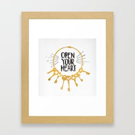 Open Heart Framed Art Print