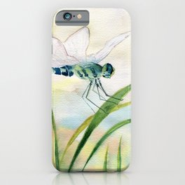 Dragonfly Watercolor  iPhone Case