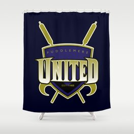 Quidditch Teams of the World: Puddlemere United Shower Curtain