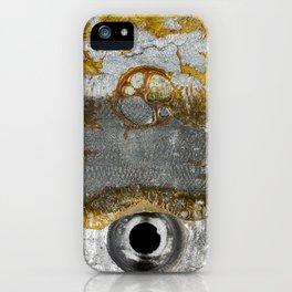 Grunge Metal Texture - Vintage Clock Battery iPhone Case