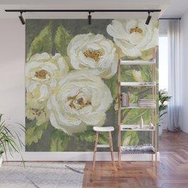 White Rose Wall Mural