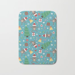 Lazy Sloth Christmas Bath Mat