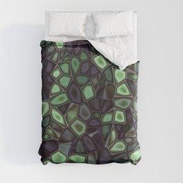 Fractal Gems 04 - Emerald Dreams Duvet Cover