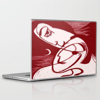 asexual Laptop & iPad Skins featuring Asexual Kiss By The Sea And Under A Crescent Moon by taiche