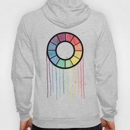 Watercolor Color Wheel Hoody