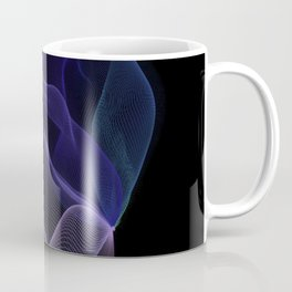 Purple-Blue Ombré Aurora String Theory # 1 (blue on black) Coffee Mug