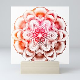 Tie-Dye Rose Ornament Mini Art Print