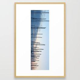 Sunset in Harbour Framed Art Print