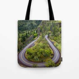 Rowena Crest Loops - Columbia River Gorge - Oregon Tote Bag