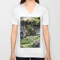 moss V-neck T-shirts featuring Moss by Infra_milk
