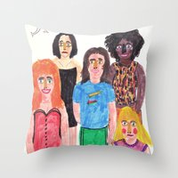 spice girls Throw Pillows featuring The Spice Girls by Angela Dalinger