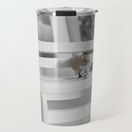 Shiba Inu Park Bench Travel Mug