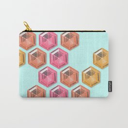 Summer Gradient Hexagon Gemstones Carry-All Pouch