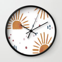 sunbursts Wall Clock