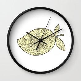 Juicy Mango Fruit Mandala Wall Clock