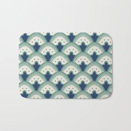Fan Pattern Blue/Green Bath Mat