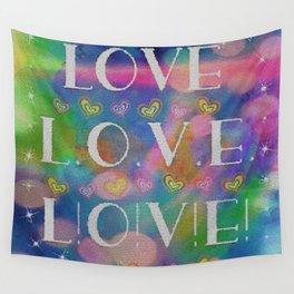 Love L.o.v.e. L!o!v!e! Wall Tapestry