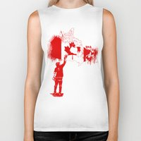 canada Biker Tanks featuring Canada Tagger by Kris alan apparel