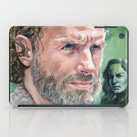 rick grimes iPad Cases featuring Rick Grimes by Mark Satchwill Art