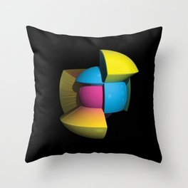 3D Art Sphere 4 - Cutting To The Core Series Throw Pillow