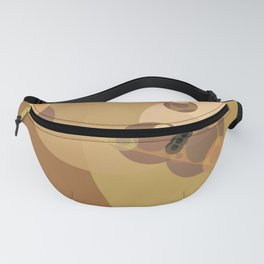 carmen - abstract design warm tan brown caramel beige taupe Fanny Pack