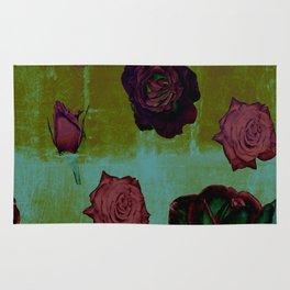 Crimson Vintage Rose Rug
