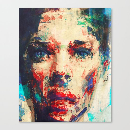 Face in Saturated Color's 3 Canvas Print