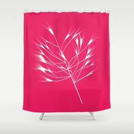 Beautiful pink weeds Shower Curtain