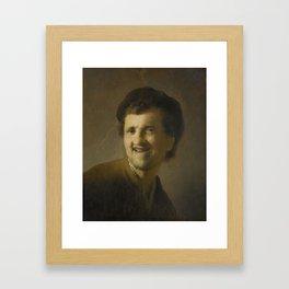 Bust of a Laughing Young Man, Rembrandt Harmensz. van Rijn, c. 1629 - c. 1630 Framed Art Print