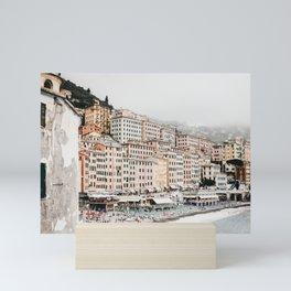 Dreamy Italian seaside village | whimsical pastel village by the sea | Italy travel photography fine art prints | Mini Art Print