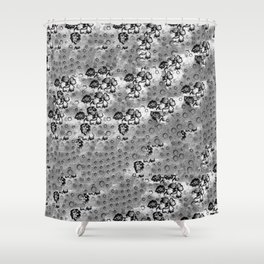 Flowers and Textiles Shower Curtain