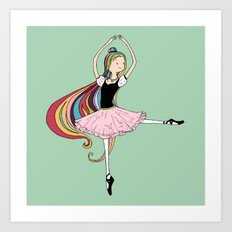 Colorful Ballerina Art Print