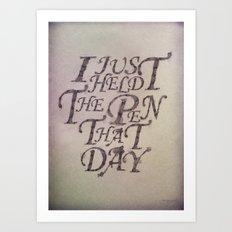 Pen Holder Art Print