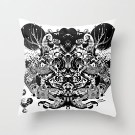 Scorn Pourer Throw Pillow