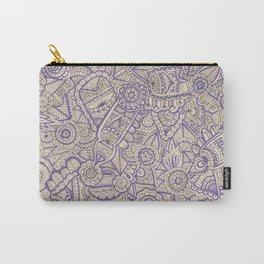 purple and black zentangle Carry-All Pouch