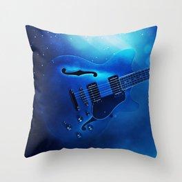 Guitar Blues Throw Pillow
