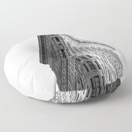 Flatiron Black and White NYC Floor Pillow