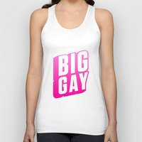 popsicle Tank Tops featuring Popsicle by Big Gay