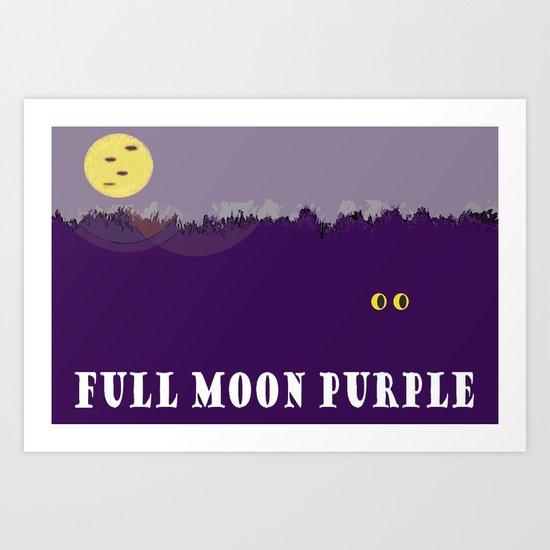 Full Moon Purple Art Print