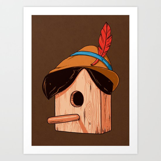 Woodpecker´s house Art Print