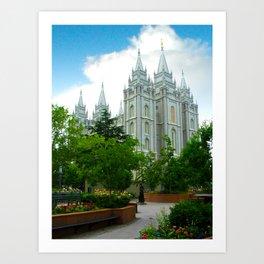 SLC Temple Art Print